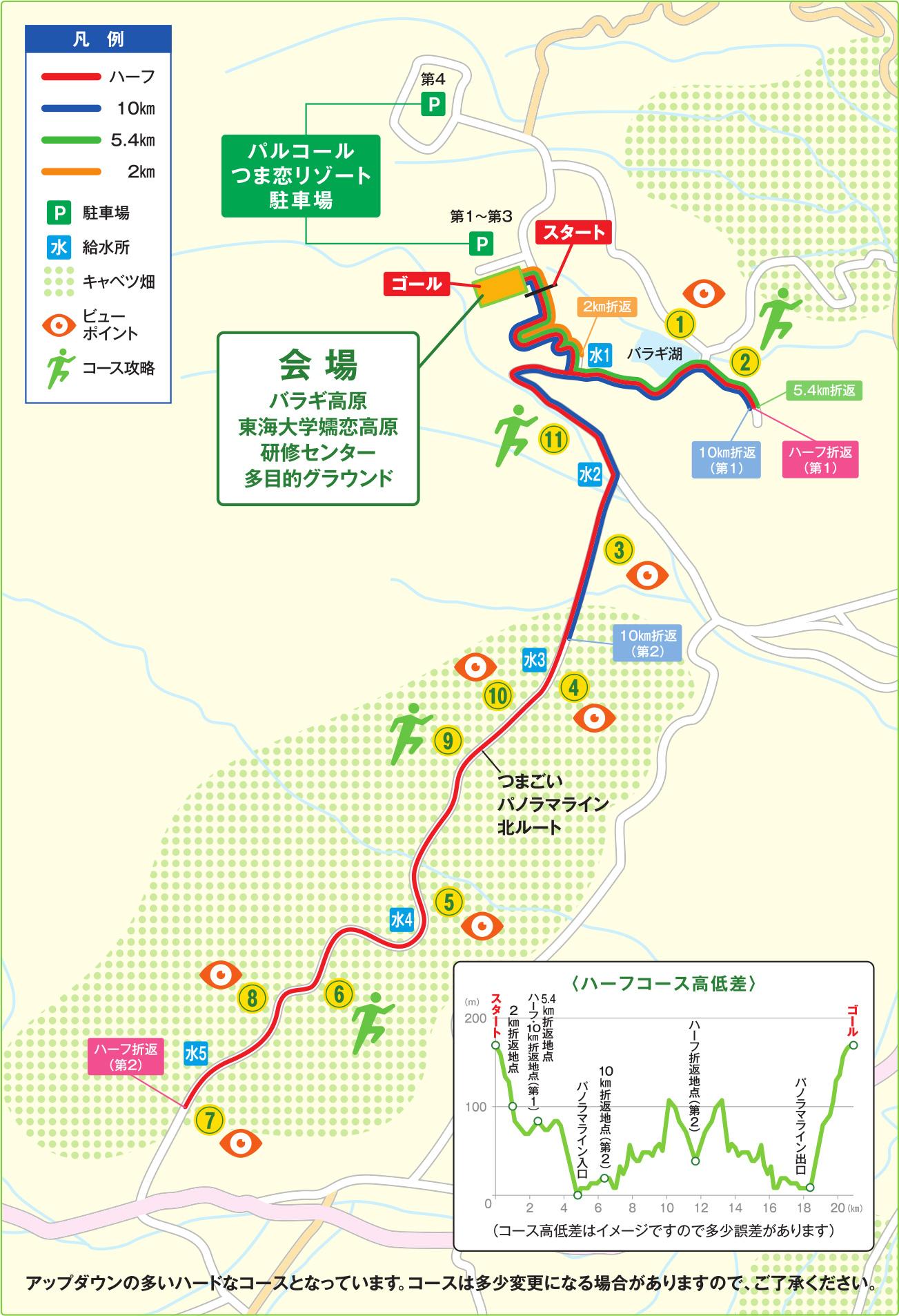5105372f98c8 コース案内 及び アクセスマップ | 第12回嬬恋高原キャベツマラソン 【公式】